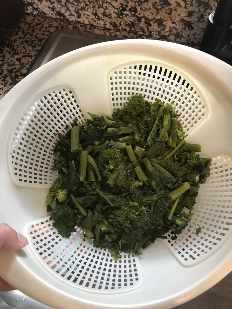 boiled broccoli rabe for pasta