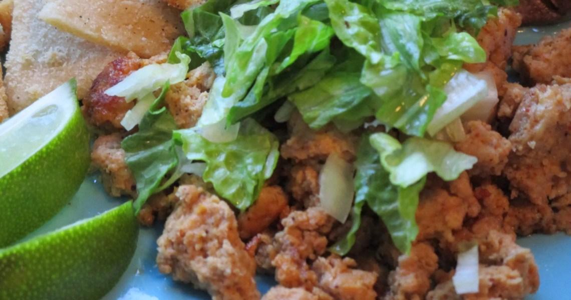 chicken taco in dish