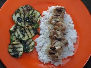 chicken satay on dish