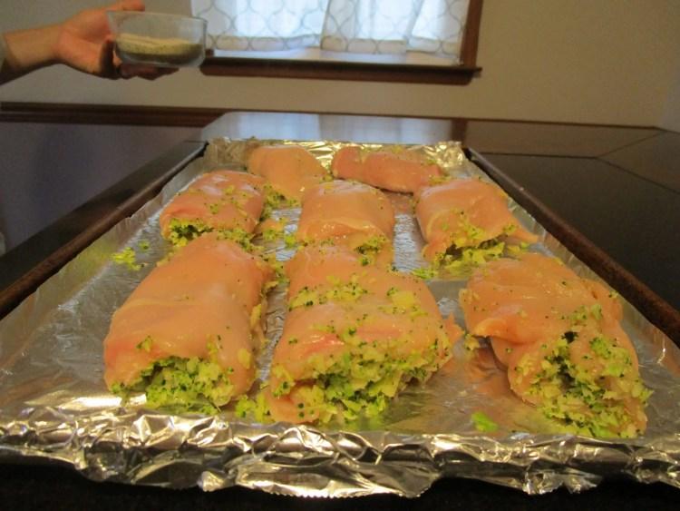 seam side down broccoli cheese chicken