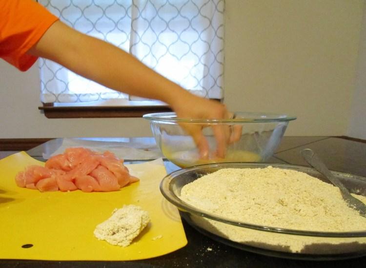 breading turkey tender nuggets
