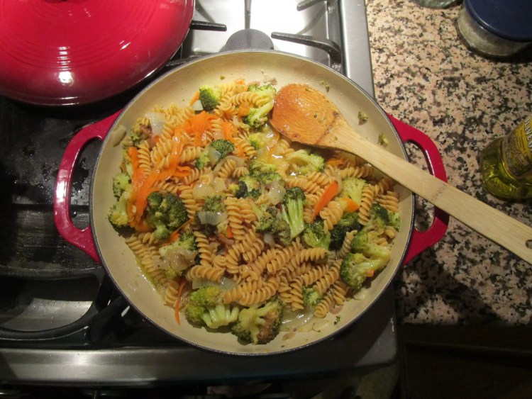 broccoli chickpea pasta all mixed up