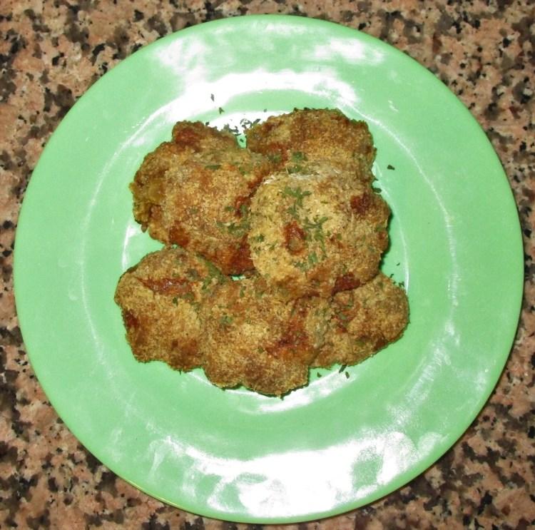 dish of ground turkey nuggets
