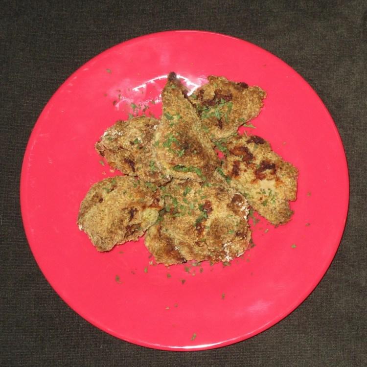 dish of turkey tender nuggets