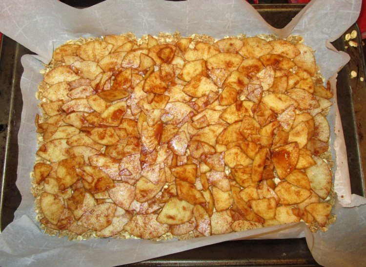 apple layer for pie bars
