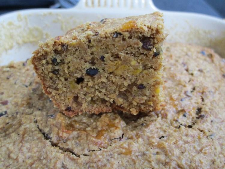 close up plantain cake