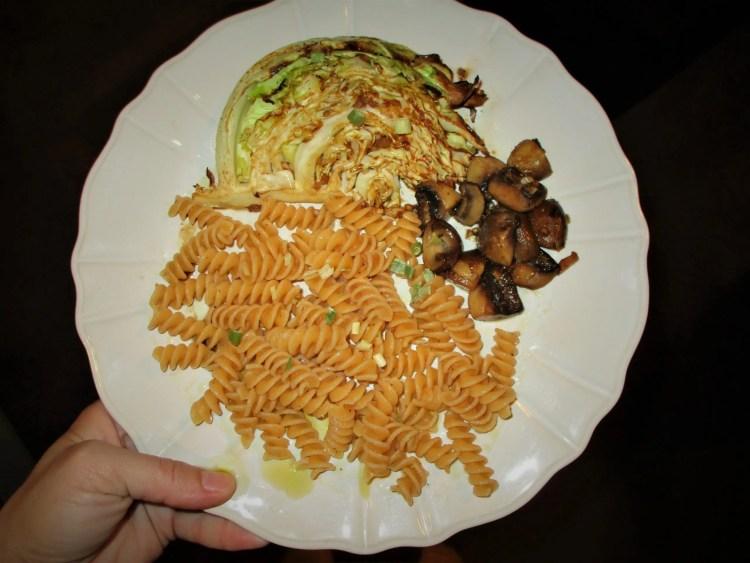 mushroom worchester on dish