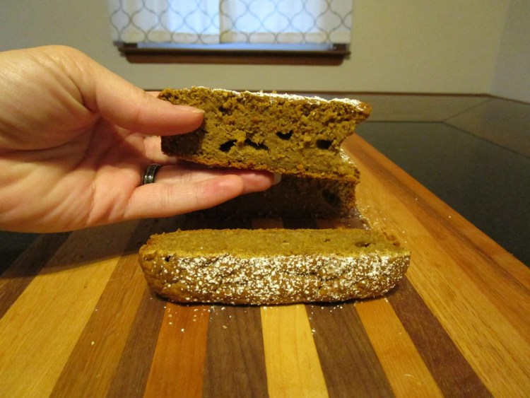 bite out of butternut squash blender bread