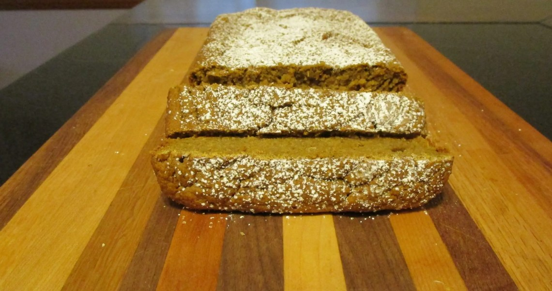 front view sliced butternut squash blender bread