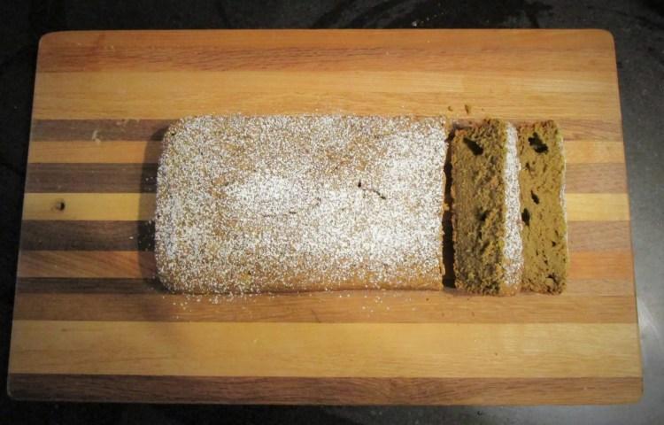sliced butternut squash blender bread