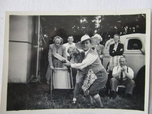 Ethel John Elsie Bella Alf and June and James W Creak at the front