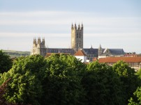 The view of th cathedral from Dane John Mound