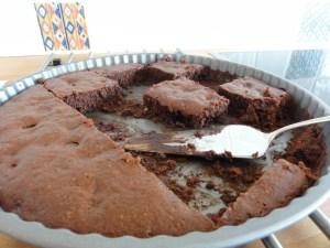 in der runden Form gebacken