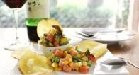 シェフ考案の夏つまみ!2stepでできるサーモンと夏野菜のタルタル