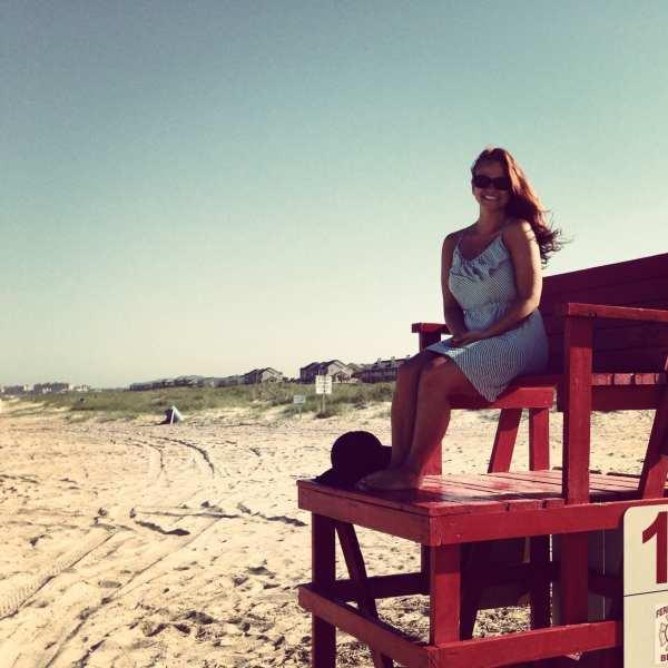 Enjoying the late afternoon sun on Fernandina Beach