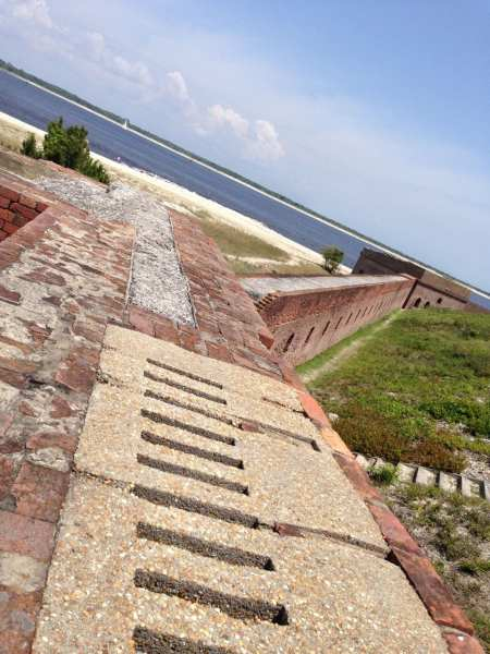 Atop the wall at Fort Clinch