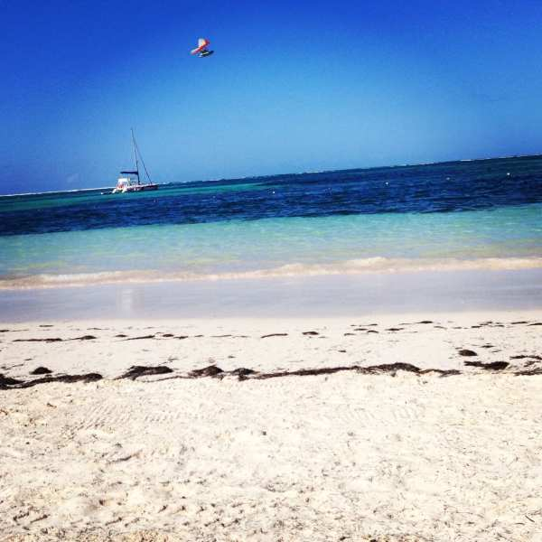 A clear day on a Dominican Beach = priceless!