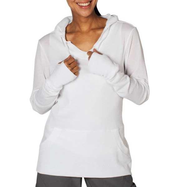 The ExOfficio BugsAway Lumen Hoody in white