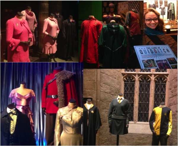 Costumes from all 8 Potter films are on display, including Quidditch gear, Prof. Umbridge's pink suits, Yule Ball formal wear and general wizard-wear