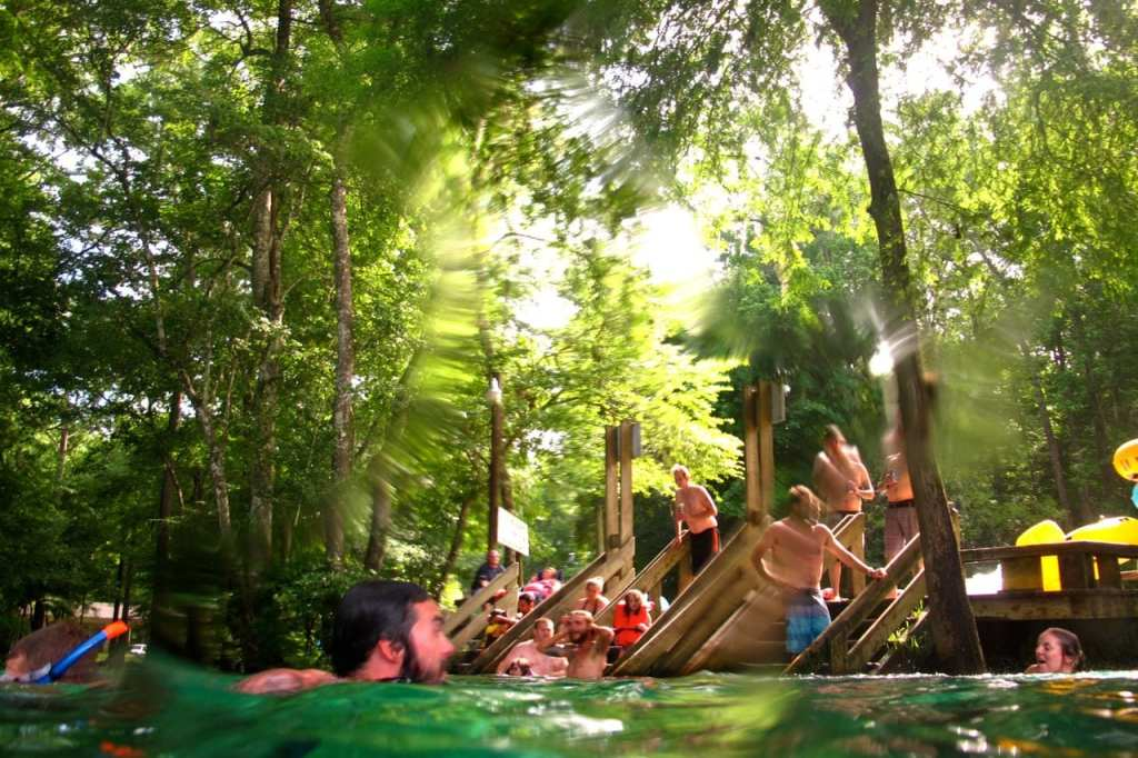 Swimming in Ginnie Springs