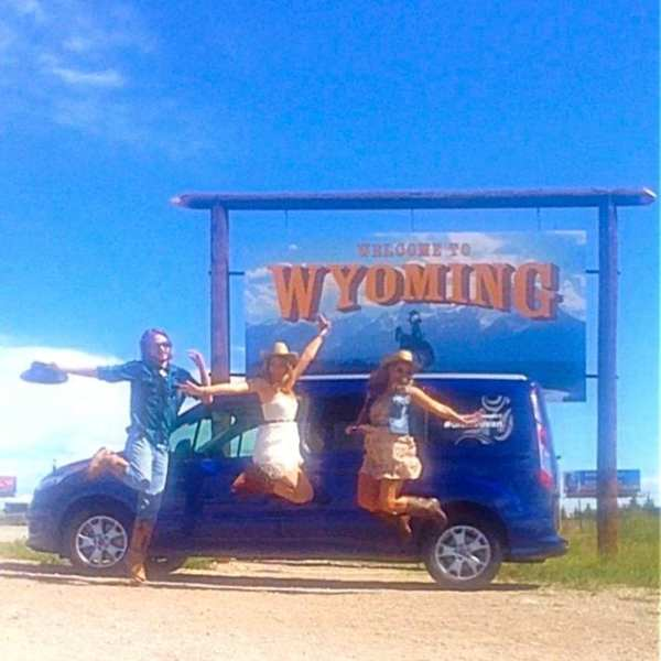 Yeehaw! We made it to Wyoming!