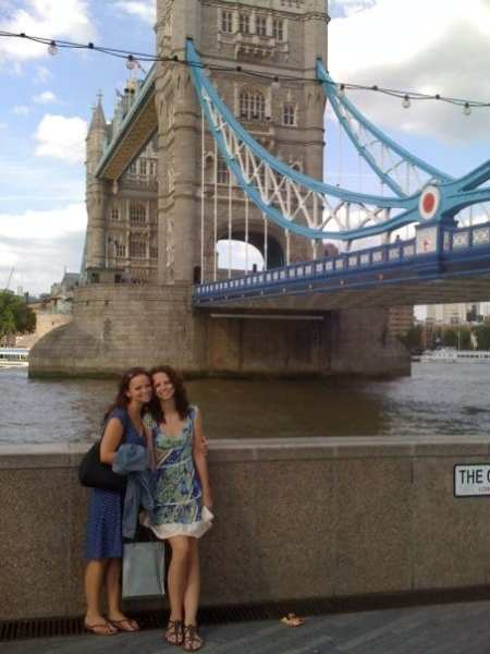 Traveling to London with Rachel in 2009