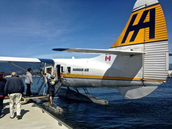 Hop onboard a Harbour Air seaplane for a quick flight to Vancouver Island
