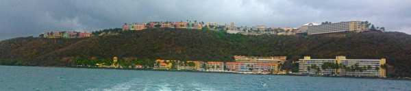 El Conquistador, from the ferry to Palomino Island