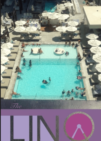 Snapchat is the best! We had a great view of the LINQ pool and the High Roller from our room
