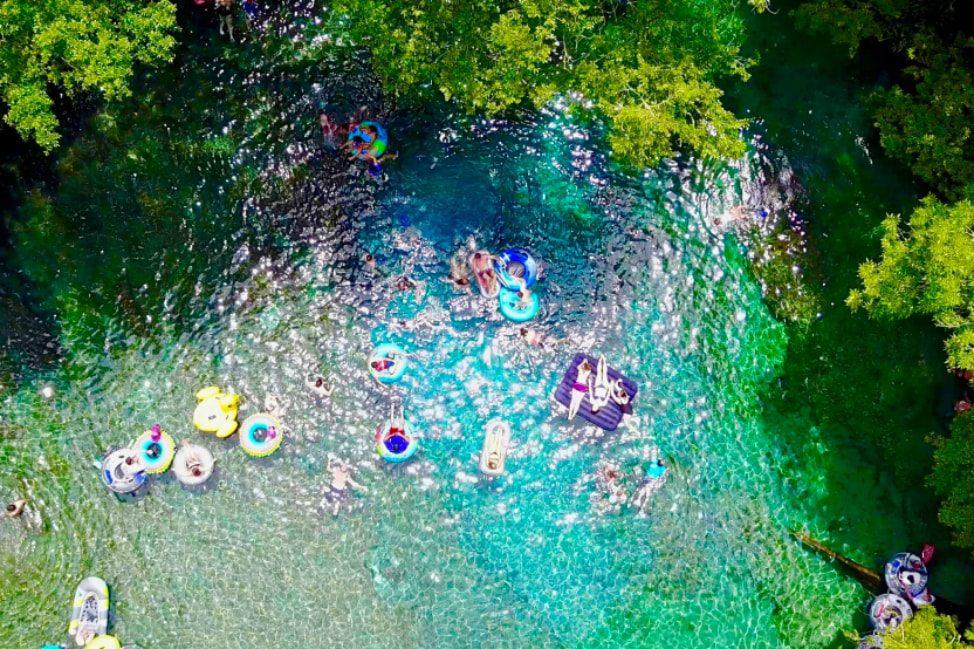Ginnie Springs Florida Drone