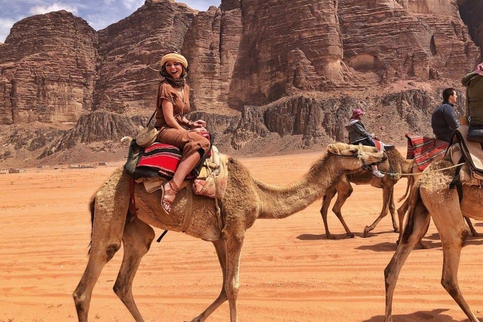 Things to do in Jordan: Exploring the Wadi Rum Desert on camel