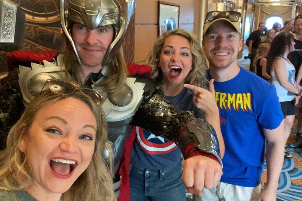 Marvel Day at Sea with The Jet Sisters