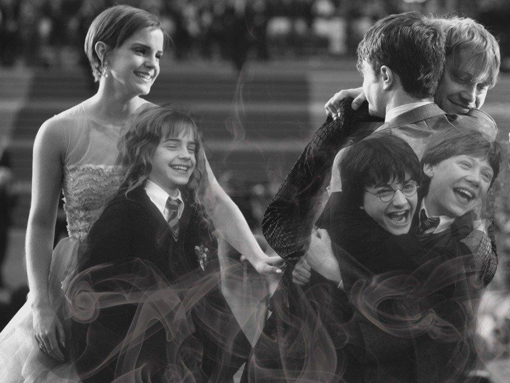 Montage d'Emma Watson, Daniel Radcliffe et Rupert Grint