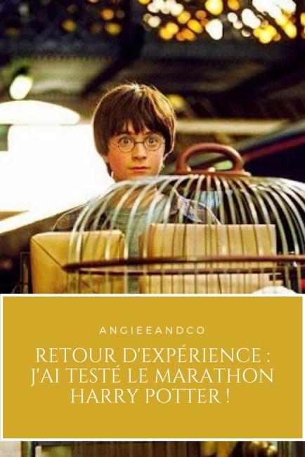 Epingle pinterest pour mon article sur le marathon Harry Potter
