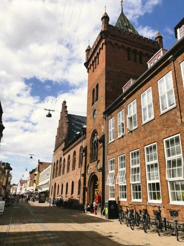 Les bâtiments du centre ville de Helsingør