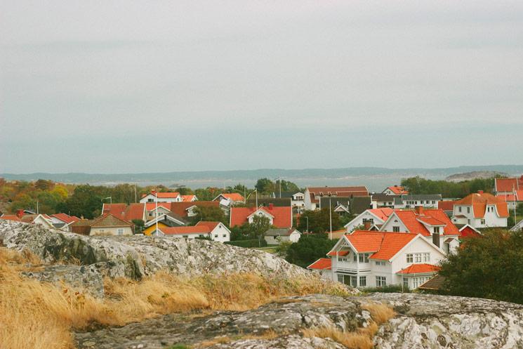La vue au dessus de Vrångö
