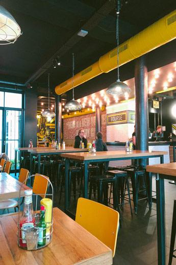 Decoration restaurant Manhattn's Burger à bruxelles