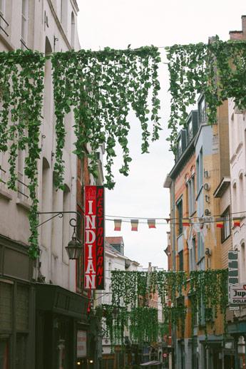 La décoration des rues de Bruxelles