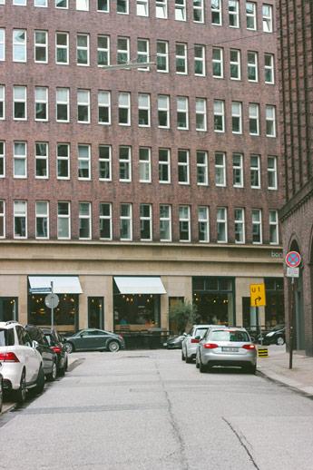 Le quartier des affaires d'Hambourg