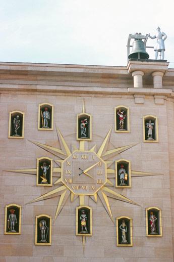 Horloge de statue à Bruxelles