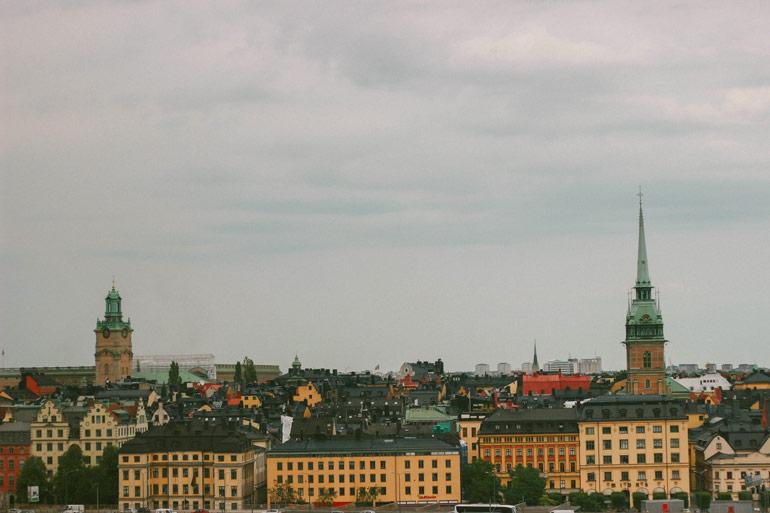Les toits de Stockholm depuis Monteliusvagen