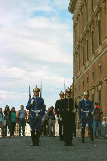 La relève de la garde à Stockholm