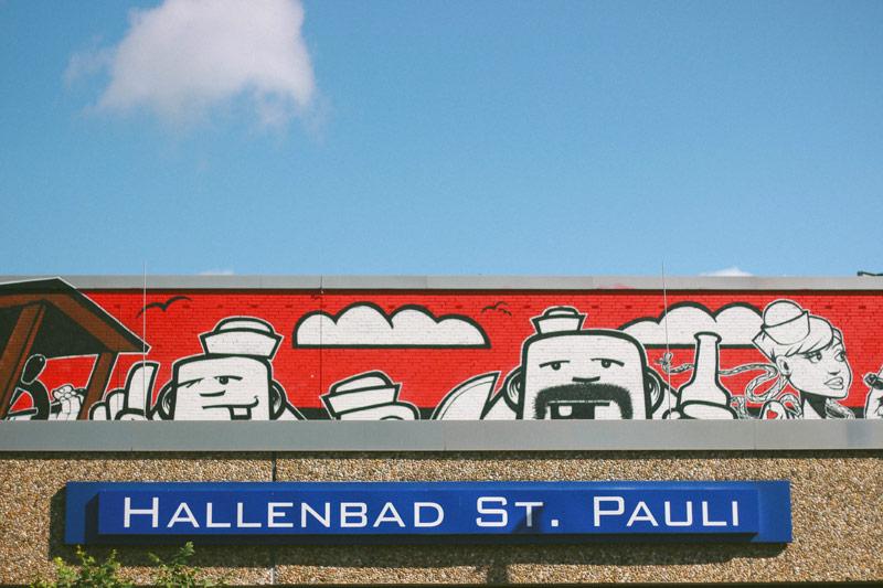 Le quartier de Saint-Pauli à Hambourg