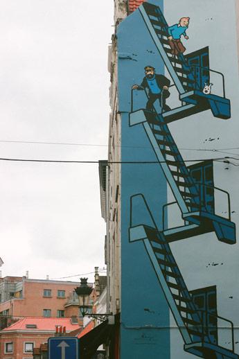 Tag de Tintin dans Bruxelles