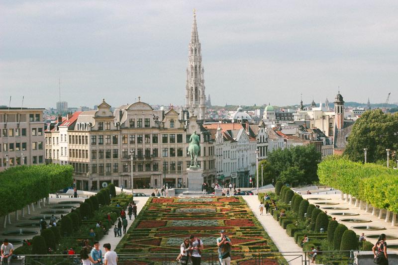 Vue sur Bruxelles depuis le Mont des Arts