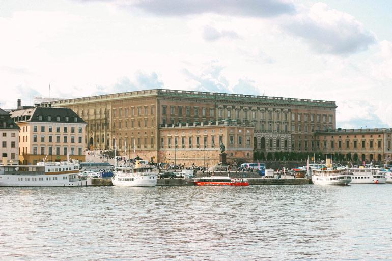 Vue sur le Palais Royal depuis l'ile de Skeppsholmen