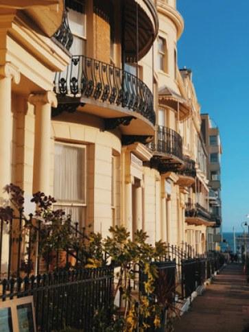 Les maisons victoriennes de Brighton
