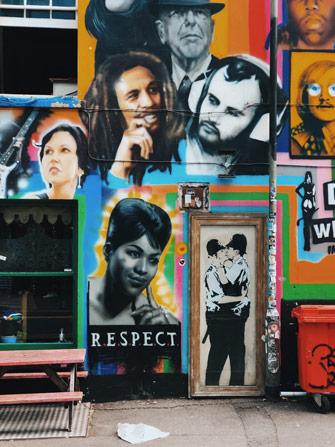 Street art de Bansky à Brighton