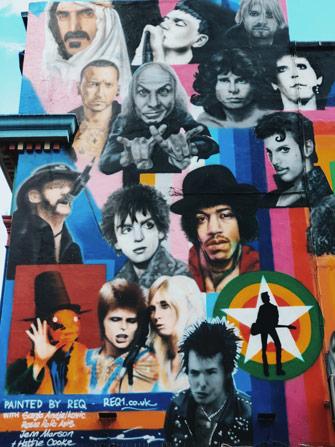 Street art sur le bar Prince Albert à Brighton