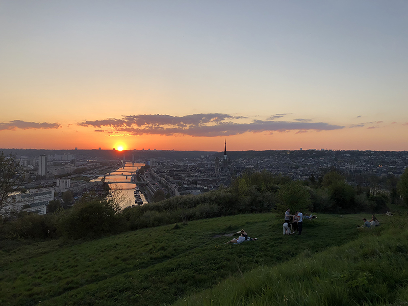Vue sur Rouen depuis la côte Sainte Catherine